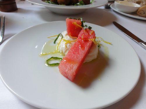 watermelon and burrata salad